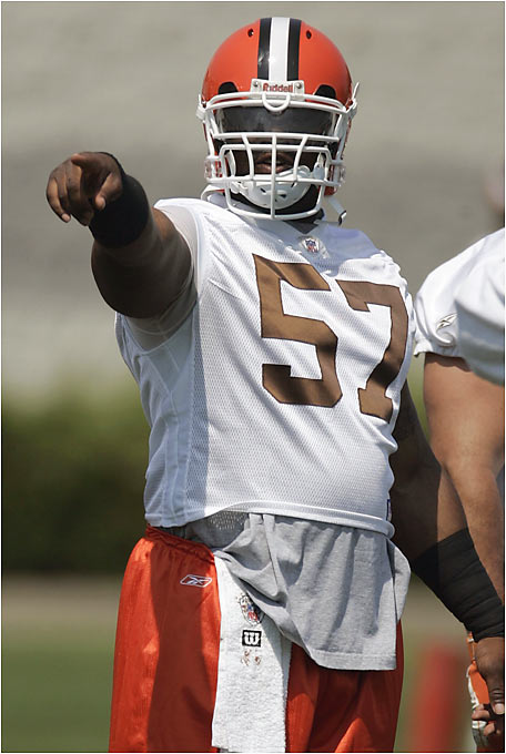 Cleveland gave Bentley a six-year, $36 million contract, the richest deal ever for a center. The former Saint has appeared in the last two Pro Bowls and instantly upgrades Cleveland's line. The Browns hope Bentley will spearhead a strong running game to take the pressure off young quarterback Charlie Frye.