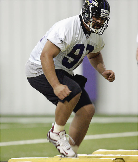 Baltimore hopes the massive rookie out of Oregon can provide the kind of presence in the middle that it had in 2000, when big Sam Adams and Tony Siragusa distracted blockers so linebacker Ray Lewis could make tackles. Ngata moves well for a big man and should produce immediately.