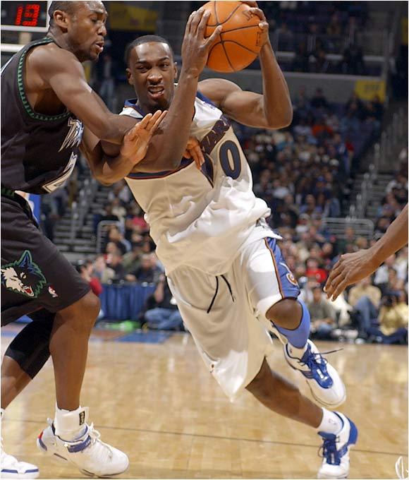"Three years later, this looks like a no-brainer. Though Arenas averaged about 18 points, six assists, five rebounds and 35 minutes in his second season, the mercurial Golden State guard seemed to walk the line between ""lovable eccentric"" and ""scatterbrained loudmouth."" In Washington he's been glorious -- his 29.3 points per game were fourth-best in the NBA last year as he led a once-moribund Wizards team to the playoffs for the second consecutive season."
