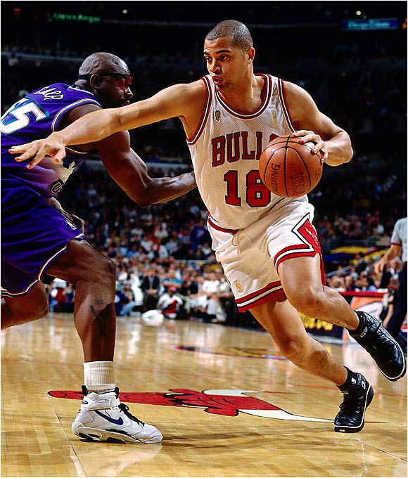 It seems laughable now to suggest that a 69-win team was in dire straits, but the Chicago Bulls were in a bit of a pickle late in the 1996-97 season. Dennis Rodman had sprained his MCL late in the season and seemed unable to relocate his rebounding touch. Second-year reserve forward Jason Caffey could score but was undersized and a little green. Enter Dele, then known as Brian Williams, who could play big forward and center and whose long arms made life tough for opposing big men. He played in only nine regular-season games but came alive in the playoffs, doing his damage against Chris Webber, Christian Laettner (an All-Star in '97) and Karl Malone.
