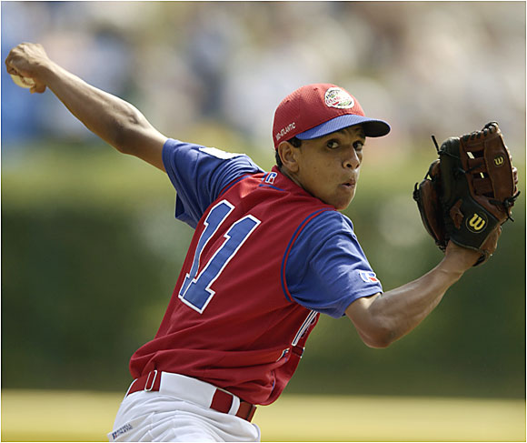 After blowing through the Little League World Series with a Koufaxian performance for the Rolando Paulino All-Stars, Bronx wunderkind Danny Almonte proved to not be so little, after all. The Dominican was revealed to have been born in 1987, not 1989, thus rendering him two years beyond the Little League age limit. His recent history does little to refute that discovery: recently, he wed a 30-year-old woman.