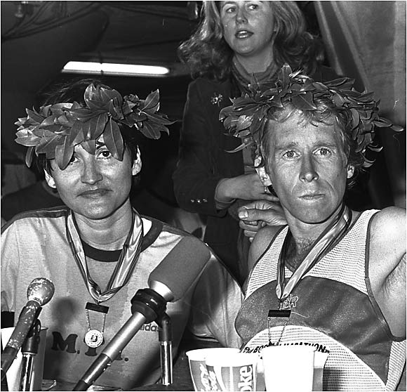 In 1980, Rosie Ruiz (left) won the Boston Marathon in 2:31:56 with nary a bead of sweat on her brow. How does one accomplish such a feat? By entering the race in the final half-mile. Ruiz had also earned her spot in the race by dominating the New York Marathon. Of course, in that competition, she reportedly rode the subway most of the way.