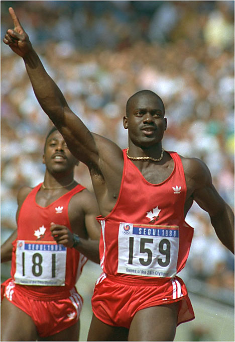 When Canadian sprinter Ben Johnson ran a 9.79 in the 100 in the 1988 Olympics in Seoul, he beat his own world record and Carl Lewis. Unfortunately, after Johnson's urine sample was analyzed, stanozolol, an anabolic steroid, was discovered. His coach, Charlie Francis, would confess that Johnson had used steroids since 1981.