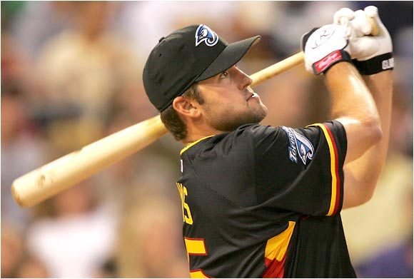 It was a disappointing night for Troy Glaus, who hit just one homer.