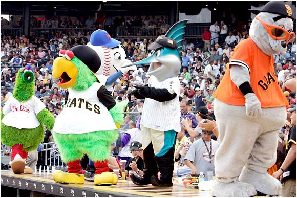 The All-Star Game isn't just a gathering of baseball's top players, it's also a chance for all the mascots to get together.