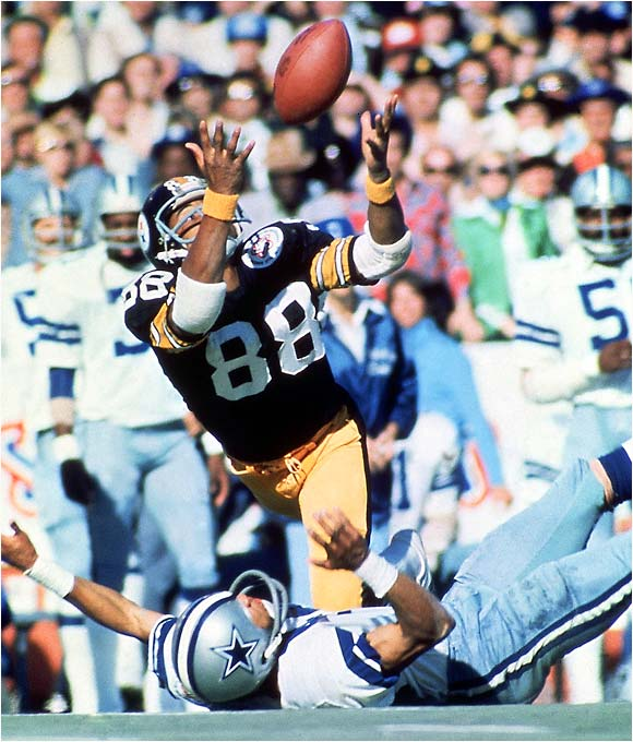 Lynn Swann's catch against the Cowboys at Super Bowl X in Miami on January 18, 1976.