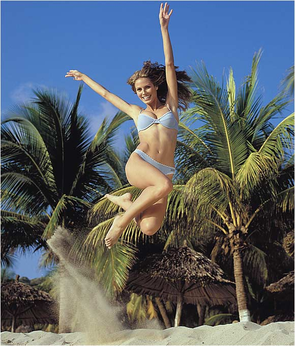 Heidi Klum, photographed in Mexico on Oct. 14, 1999.