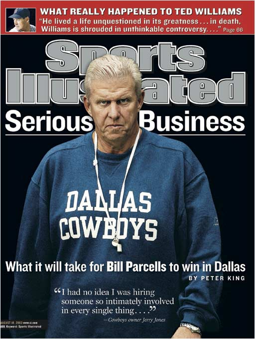 Sports Illustrated's cover of Bill Parcells was photographed on Aug. 4, 2003, in the Alamodome.