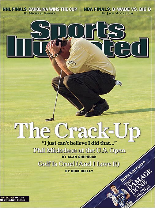 Phil Mickelson on the 18th hole of the 2006 U.S. Open.