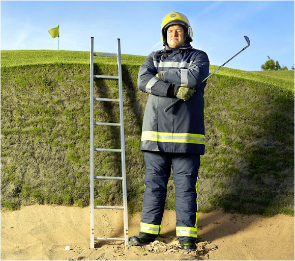 "<b>FIREMAN, John Kellaway:</b> ""I keep my clubs in the boot of my car and often go straight from the fire station to the Royal. You see tragic things in my line of work, people dying in car accidents and fires. To go from that to the wide-open spaces of the golf course, it's a relief."""
