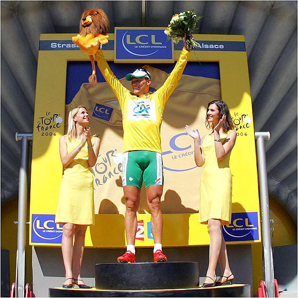 Hushovd won the prologue, then recaptured the yellow jersey in the second stage.