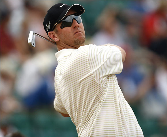 Blast from the past: David Duval, who captured the 2001 British Open, got off on the right foot with a 2-under 70.