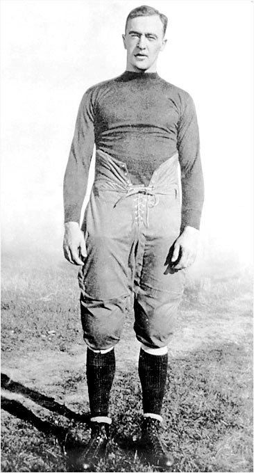 "One hundred years from now, ""The Gipper"" will remain an indelible part of college football lore. The first consensus All-American at Notre Dame led Knute Rockne's squads to consecutive unbeaten seasons (19 straight wins) as a junior and senior. His 8.10 yards per carry as a senior remains the school standard. During the two unbeaten years with Rockne, he rushed for 1,556 yards (averaging 7.5 yards per carry), averaged an extraordinary 10.7 yards per his 134 pass attempts, intercepted six passes, averaged 40 yards on 40 punts and kicked 20 PATs."