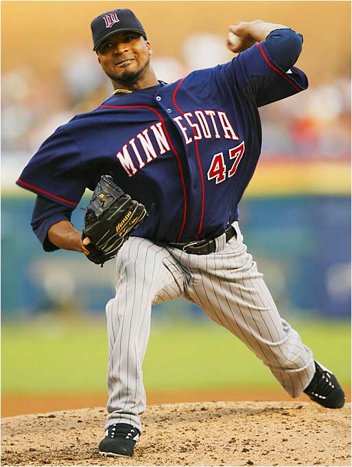 Twins phenom Francisco Liriano pitches against the Tigers on Aug. 7, but would leave the game with nagging pain in his throwing arm. The rookie, who leads the majors with a 2.19 ERA, is out indefinitely.
