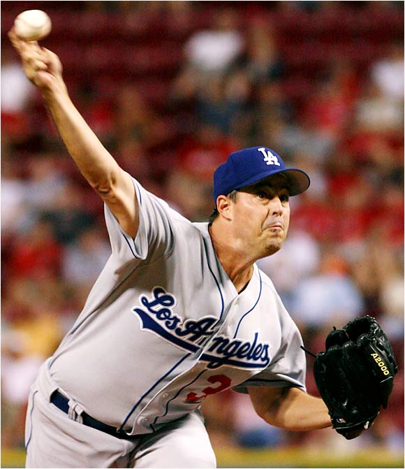 Greg Maddux pitched a no-hitter through six innings in his debut with the Dodgers on Thursday but was pulled due to a long rain delay in the seventh inning. Maddux got the win as the Dodgers' bullpen held the Reds scoreless in their 3-0 win.