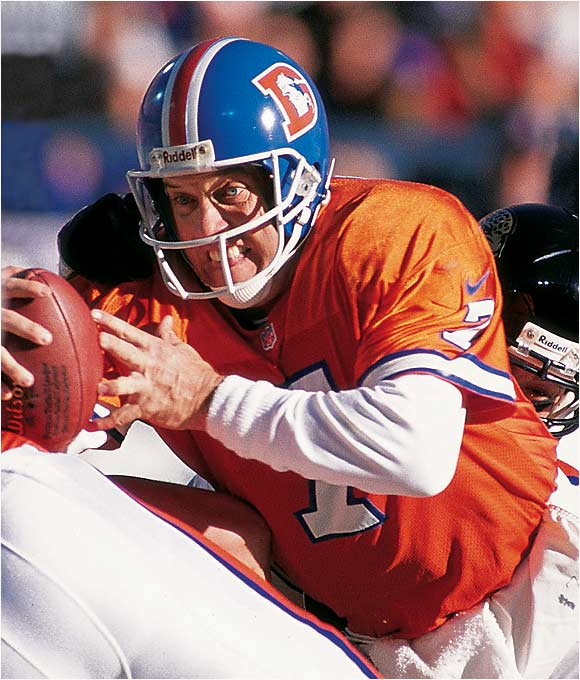 He led the Broncos to an NFL-record 47 fourth-quarter comeback wins, including some of the most dramatic victories of all time. His 98-yard march down the field to beat the Browns in the 1986 AFC Championship Game is considered by many the greatest drive in league history. And Elway stepped up on the biggest stage later in his career, leading the Broncos to two Super Bowl wins.