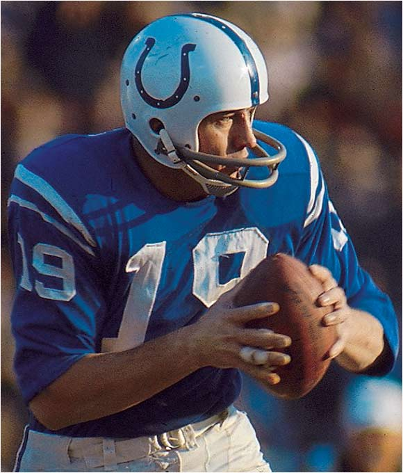 He became a superstar when he led the Colts to a thrilling come-from-behind win in the 1958 NFL Championship against the Giants, considered by many the greatest game ever played. Johnny U was seemingly impervious to pressure, and you could never count his Colts out of a game.