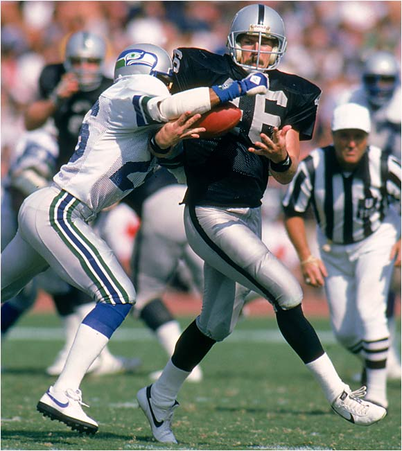 From 1983 to '86 he caught 349 passes, an NFL record at the time. Christensen, who played on two Super Bowl-winning Raiders teams, was always there when the offense needed a big catch and was very valuable as a team leader.
