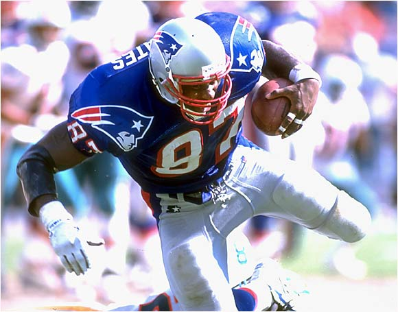 He made five Pro Bowls and was the main threat for the Patriots for most of the 1990s. In '94, Coates caught 96 passes for 1,174 yards and seven touchdowns. A huge target, he used his speed and strength to keep defenders off him, and he was dangerous after the catch.
