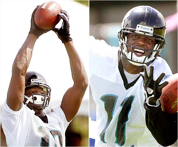 Williams (right), the ninth pick in the 2004 draft, is being pushed by the improving Wilford, a fourth-rounder that year.