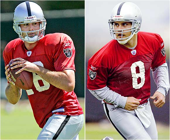 We'll assume Aaron Brooks can hold on to the starting job, which means these two QBs, Walter (left) and Tuiasosopa, will battle for a backup spot that's key, since it's hard to imagine Brooks lasting the whole year.