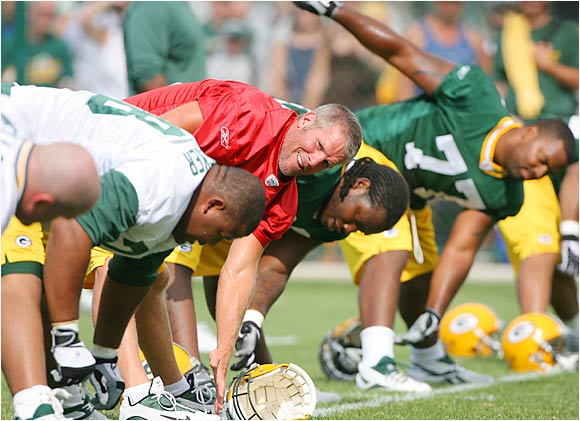 Green Bay QB Brett Favre, who's back for his 17th and perhaps last season, looks to stay fresh and agile in training camp.