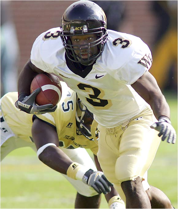 With starting RB Chris Barclay suspended, Andrews had a monster game in last season's opener against Vanderbilt, carrying the ball 34 times for 254 yards (the second-best single-game rushing effort in school history). But he rushed for only 364 yards on 76 carries in the Demon Deacons' final 10 games. With Barclay graduated, Andrews will carry the bulk of the load this season and should excel behind a veteran O-line that includes All-ACC tackle Steve Vallos.