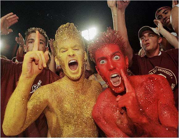 These fans weren't afraid of a little body paint to support their Seminoles.
