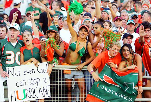 Miami fans were not shy about expressing their feelings during a game against Florida State last September.