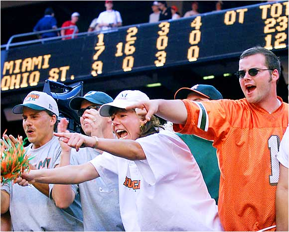 Miami fans were not shy about expressing their feelings during a game against Ohio State.