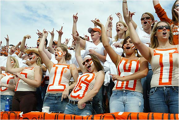Texas fans roared for their Longhorns during the annual Red River Shootout against Oklahoma last October.