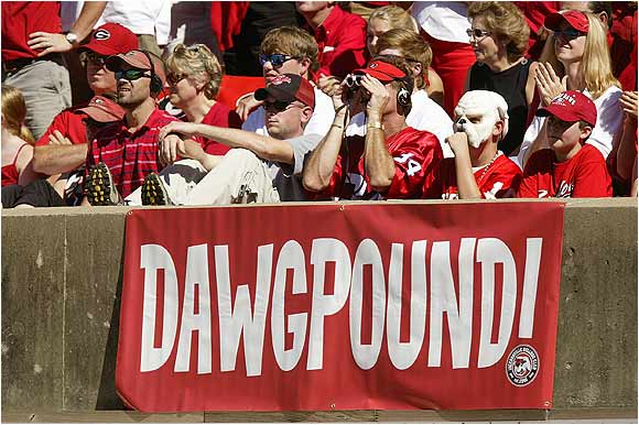 The DawgPound came out in full force for this 2004 match-up against Marshall.