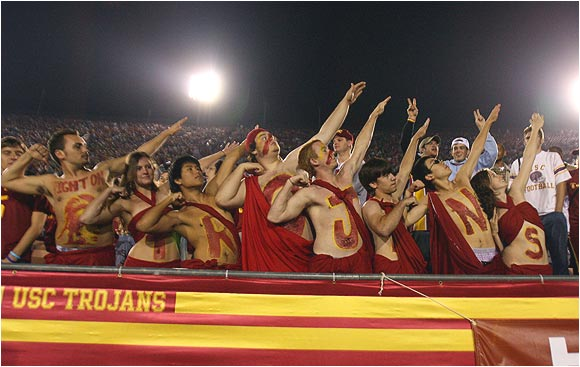 USC fans did their best Hulk Hogan imitation before a game against Stanford last November.