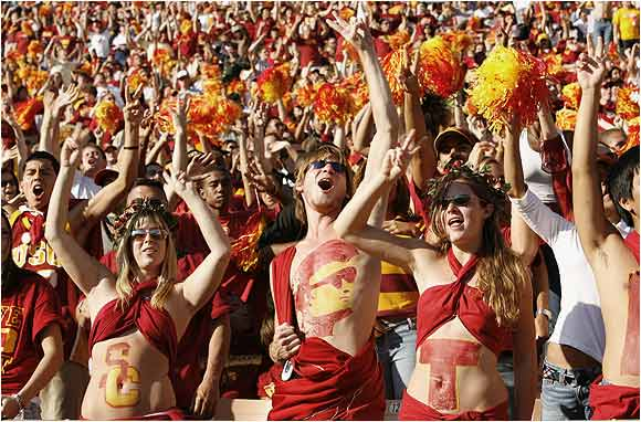 There's no better attire for a football game than a toga, or so these USC fans thought as their Trojans sacked Washington State 55-13 last October.