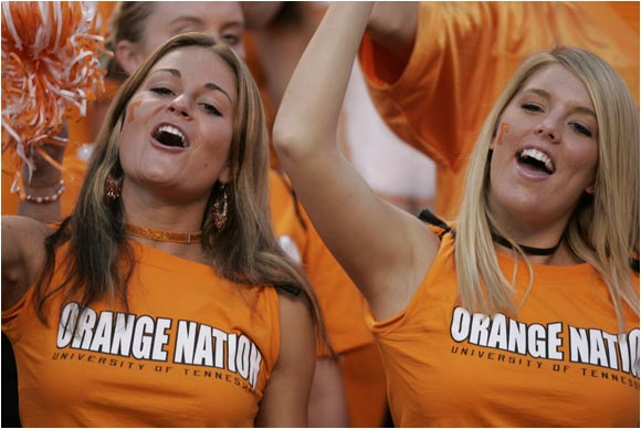 These Tennessee ladies showed their ample support for the Vols.