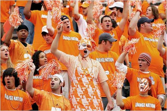 Volunteer fans celebrated a victory over Florida in September, 2004.