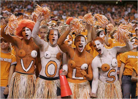 Vols fans made some interesting fashion choices during a game against Florida in September 2004.