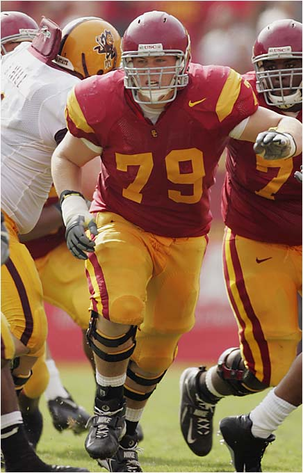 In his third season as starting left tackle, Baker has bulked up to 305 pounds. As one of the nation's best tackles, he's sure to be coveted by the NFL, but Baker has already publicly stated that his intentions are to stay at USC for his senior season.
