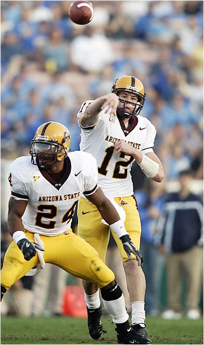 Less than 48 hours after announcing that Sam Keller would begin the season as Arizona State's starting QB, Sun Devils coach Dirk Koetter reversed his decision and named Carpenter the lead signal-caller. Carpenter took over under center last year after Keller went down with a season-ending injury and averaged 365.8 passing in his five starts (4-1 record). He also led the nation in passing efficiency (175.01).