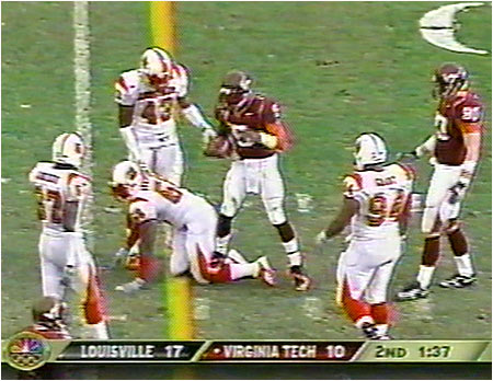 Stomping on the leg of Louisville defensive back Elvis Dumervil during last season's Gator Bowl was only one of the reasons the Hokies showed Michael's brother the door at the end of his junior season.