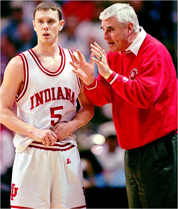 During a 1997 Indiana practice that was videotaped (see link below), head coach Bob Knight grabbed junior Neil Reed by the throat and began yelling at him.