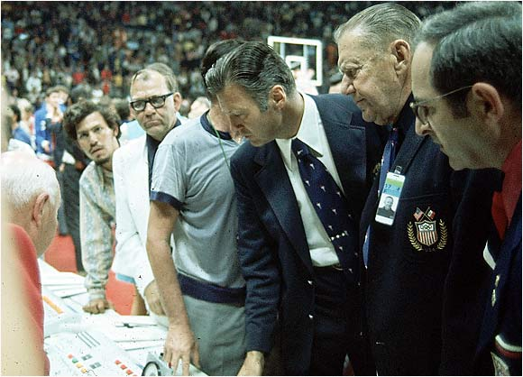 """The 1972 basketball final between the U.S. and U.S.S.R. Such a blatant doctoring of the outcome of a championship by the officials has hardly been seen in all of sports history. The U.S.' silver medals are still in a vault in Switzerland because the U.S. players refuse to claim them."" -- Dan, New Britain, Conn."