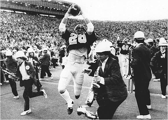 """Maybe this should be filed under `embarrassing band moments,' but the 1982 Cal-Stanford game when the Stanford band stormed the field while the game was still going should be mentioned. As a member of that Cal team, I fondly remember that game and have enjoyed rubbing it in Stanford fans' faces ever since."" -- Tim Smith, San Francisco"