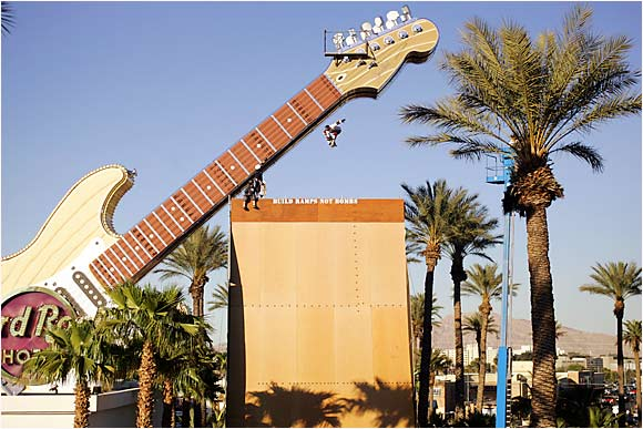 In extreme sports, creativity is a virtue. This helps explain why in April 2006, skateboarder Danny Way jumped off the Hard Rock Casino Guitar in Las Vegas.
