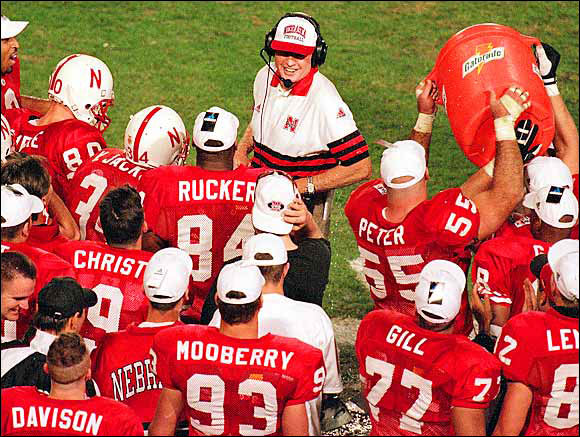 Talk about leaving on a high note. In Osborne's last five years at Nebraska, the Cornhuskers went 60-3, including three national championships. In 1997, his final season, Nebraska won the Orange Bowl with a 42-17 victory over a Peyton Manning-led Tennessee squad and shared the national title with Michigan.