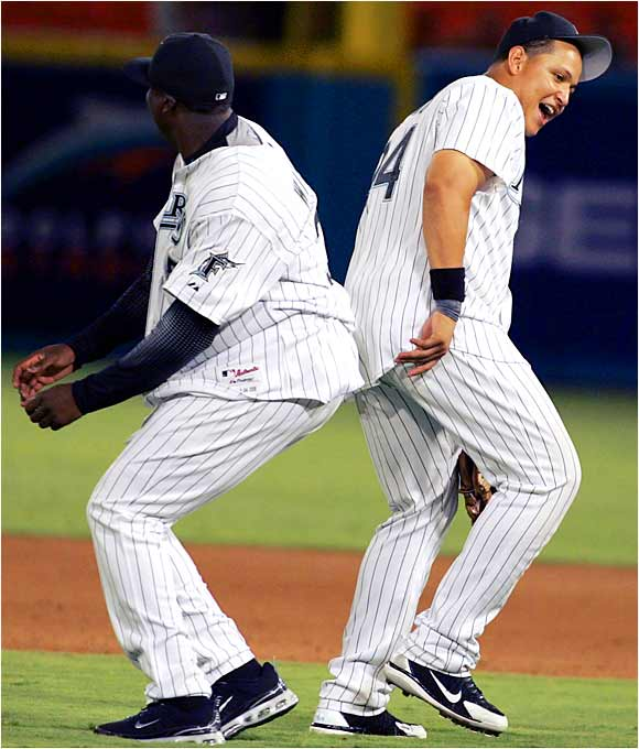 Dontrelle Willis and Miguel Cabrera have a unique way of celebrating wins.