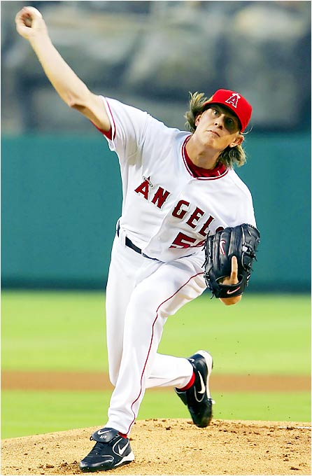 Despite a solid outing for Angels pitcher Jered Weaver, the Red Sox dealt him his first loss of the season, 2-1, at Angel Stadium on Aug. 24. Weaver's 9-0 start to open his major league career tied the AL record set by Whitey Ford of the 1950 Yankees.
