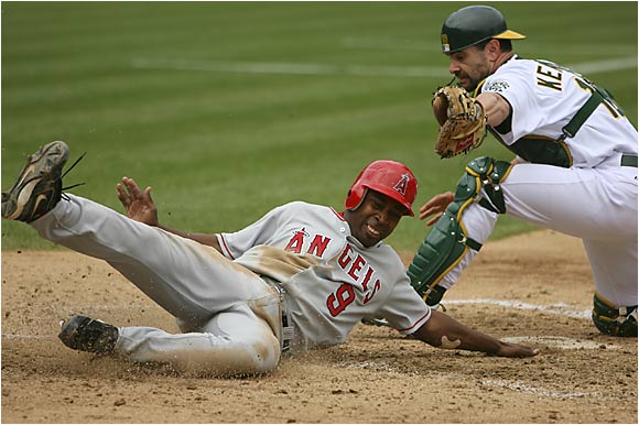 This is the third consecutive season he has played at least six positions: second base, third base, shortstop, left field, center field and right field. His ultraversatility is vital for a roster as fragile as the Angels'. He has struggled at the plate this year (.255) but has 41 steals, best in the AL.