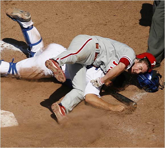 Phillies fans knew all about Utley's all-out, hustling style of play before he put together his recent 35-game hitting streak. He leads major league second basemen in home runs (21), doubles (32) and OPS (.940) and has stolen 12 bases.