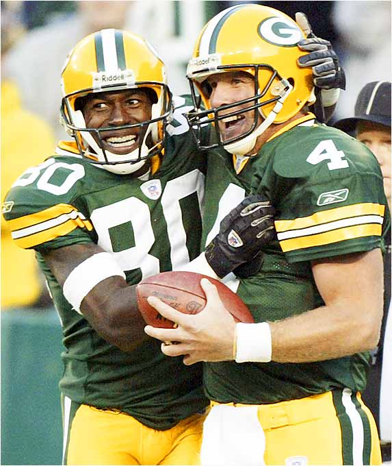 Favre and Driver have always had a good connection. Last season was tough for both of them as the Packers fell apart, but they worked together in the offseason and looked like their old selves in preseason. As everyone knows, Favre will throw into tight quarters, so his trust in his receivers is a big part of the Green Bay offense.
